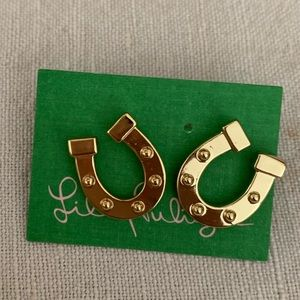 Lilly Pulitzer horse shoe earring